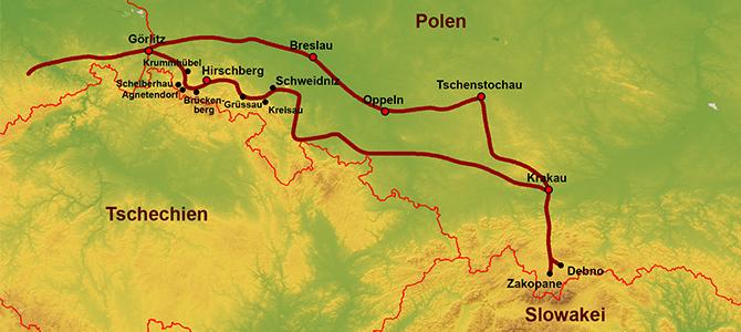 Studienreise nach Südpolen vom 13. bis 20. Mai 2019