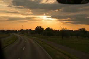 Auf der Autobahn nach Frankfurt